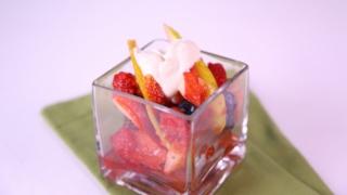 2 Seasonal Fruit Salad with Yogurt Sauce