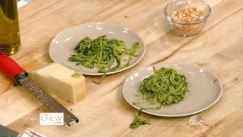 Zucchini Spaghetti with Arugula Pesto: Part 2