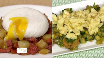 Corned Beef Hashed w/ Poached Eggs & Spinach and Squash Hash with Egg Scramble: Part 1