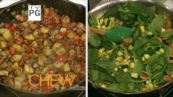Corned Beef Hashed w/ Poached Eggs & Spinach and Squash Hash with Egg Scramble: Part 2