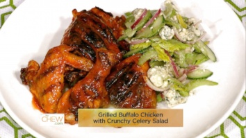 Grilled Buffalo Chicken with Crunchy Celery Salad: Part 1