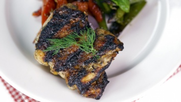 Buttermilk Grilled Chicken Thighs with Grilled Vegetables: Part 2