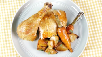 Roast Chicken with Tarragon Vegetables: Part 1