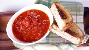 Tomato Soup & Grilled Hummus Sandwich: Part 1
