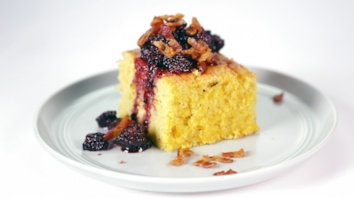 Fresh Grilled Cornbread with Bacon-Blackberry Compote: Part 2