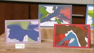Spin Art Notecards: Part 1