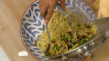 Spaghetti with Corn, Bacon and Jalapeno Recipe: Part 1