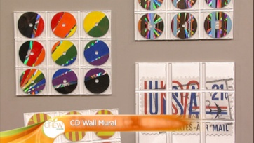 Clinton\'s Crafts: CD Mural Wall: Part 1