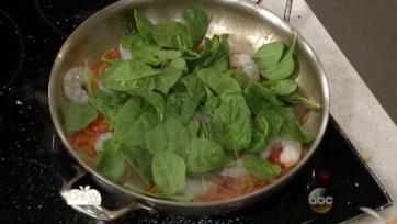Shrimp & Spinach Spaghetti Recipe: Part 1