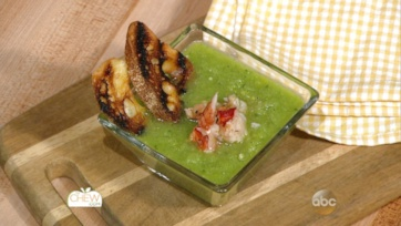 Green Tomato Gazpacho with Grilled Lobster Recipe: Part 1