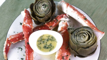 King Crab Legs with Artichokes and Champagne: Part 2
