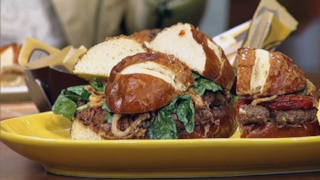 Andrew Zimmern\'s Grilled Ox Heart Burger