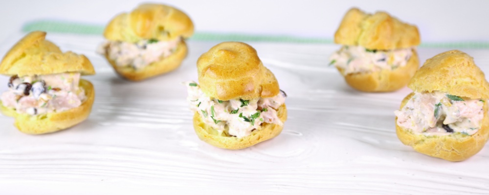 Baby Chicken Salad Puffs by Clinton Kelly Recipe by Clinton Kelly ...