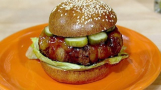 Bacon Wrapped Chipotle Burgers