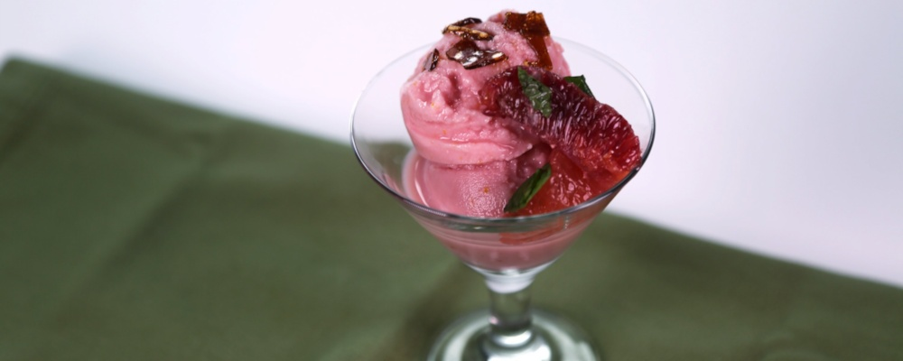 Blood Orange Sherbet Recipe by Mario Batali and Michael Symon - The ...