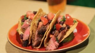 Bobby Deen\'s Steak Tacos with Black Bean Pico de Gallo