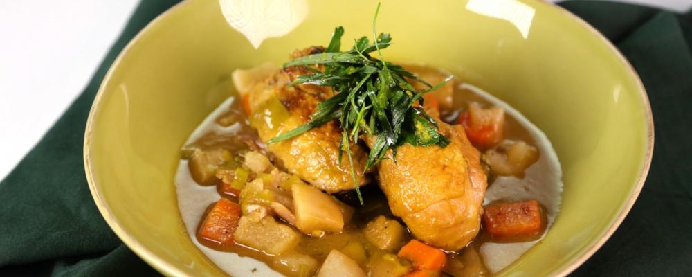 Braised Chicken with Leeks & Turnips