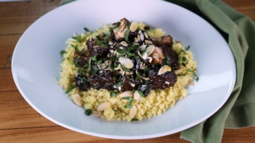 Braised Pork Shoulder with Olives and Couscous