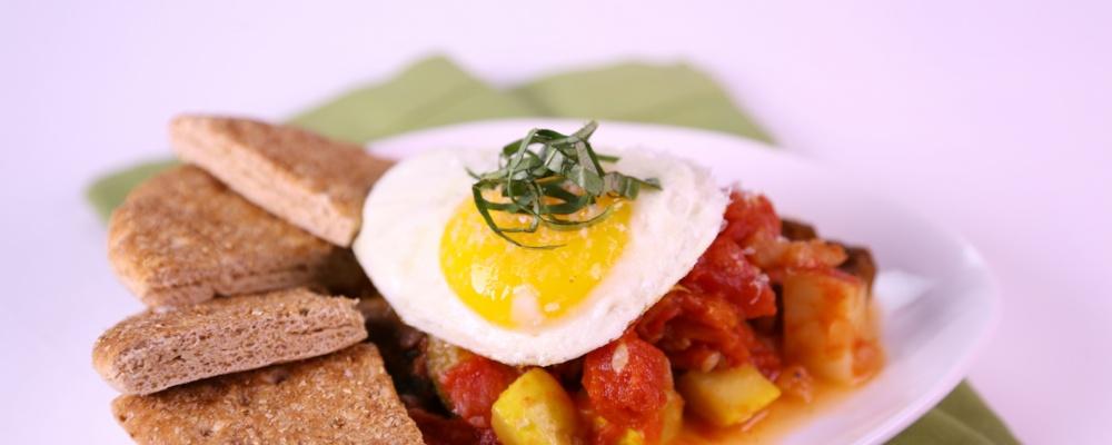 California Veggie Hash 2 Ways with Eggs