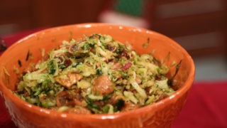 Carla Hall\'s Brussels Sprouts with Dried Figs and Pancetta
