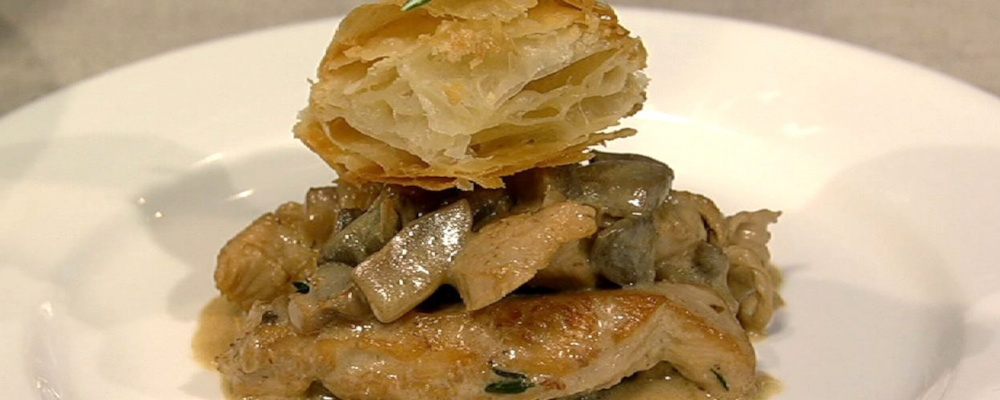 Carla Hall\'s Chicken with Mushroom Duxelles