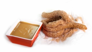 Carla Hall\'s Churros with Caramel and Chocolate Sauces