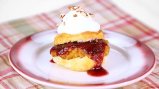 Carla Hall\'s Cranberry and Sweet Potato Shortcake