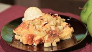 Carla Hall\'s Honey Apple Bread Pudding