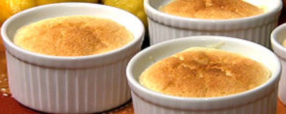 Carla Hall\'s Lemon Pudding Cake with Orange Liqueur