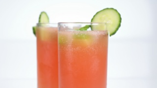 Carla Hall\'s Minted Watermelon and Cucumber Punch