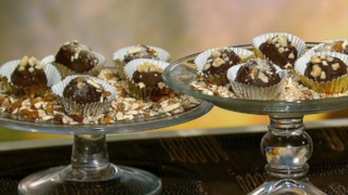 Carla Hall\'s Peanut Butter and Pretzel Bon-Bons