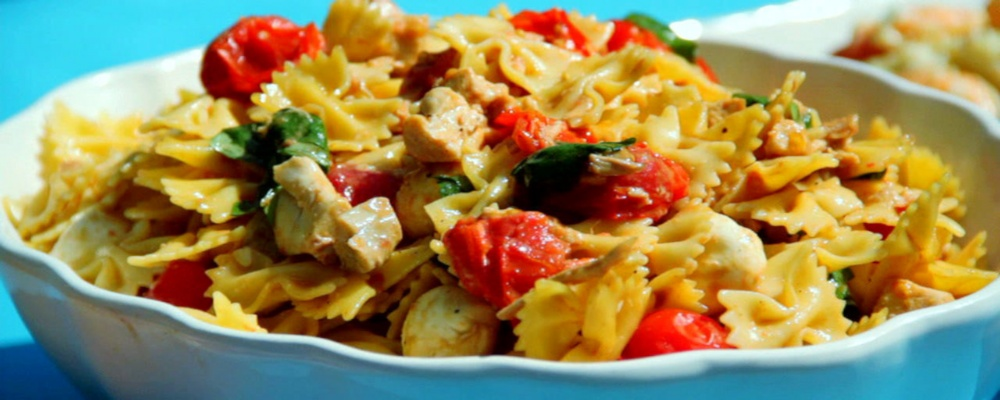 Chicken Caprese Pasta Salad Recipe by Clinton Kelly - The Chew