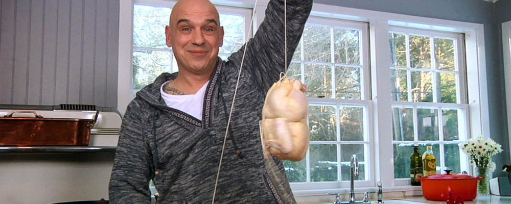 Chicken on a String by Michael Symon