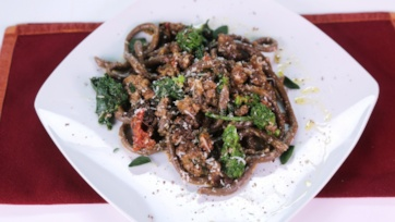 Chocolate Pasta with Spicy Sausage Ragu