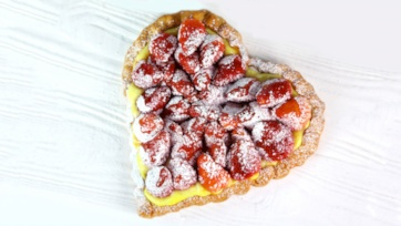 Chocolate-Strawberry Tart by Jacques Torres
