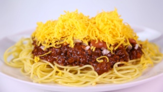 Cincinnati Chili with Spaghetti