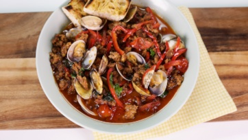 Clams with Sausage & Peppers