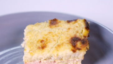 Croque Madame Bread Pudding