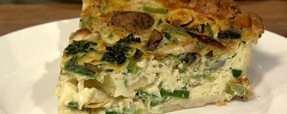 Daphne Oz\'s Caramelized Onion and Spinach Quiche