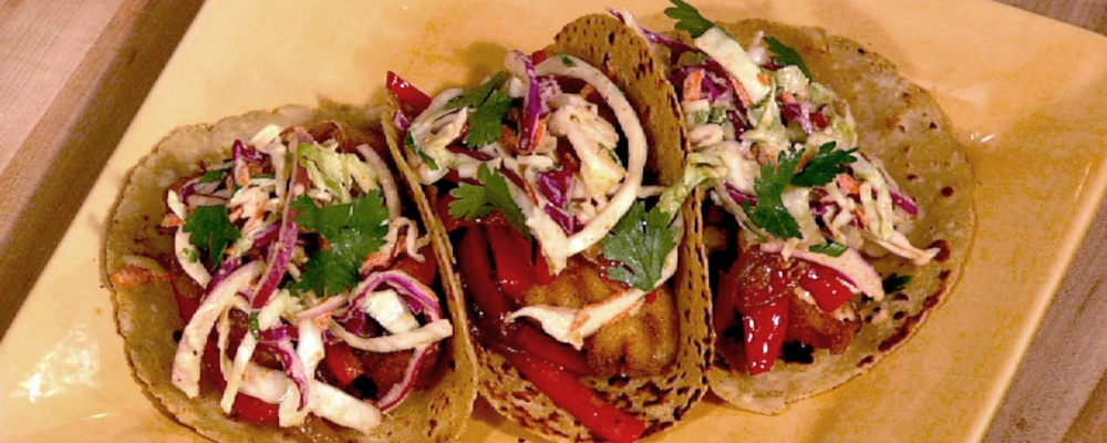 Daphne Oz\'s Fish Tacos with Creamy Chipotle Cabbage Slaw