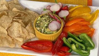 Daphne Oz\'s Guacamole with Pistachios and Radishes