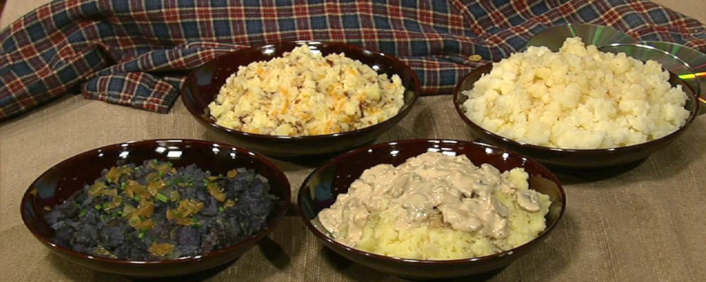 ... Oz\'s Purple Mashed Potatoes with Rosemary and Caramelized Onions