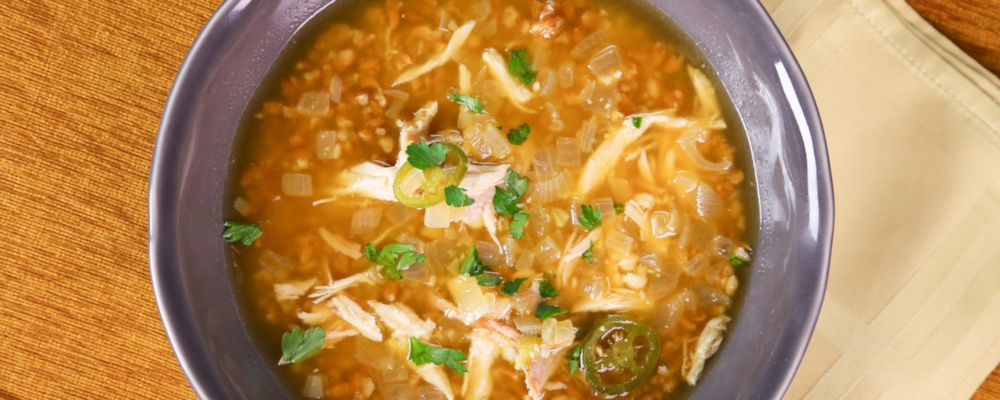 Daphne Oz\'s Roasted Garlic and Chicken Soup