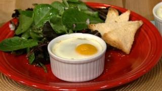Eggs en Cocotte with Eggplant Caponata