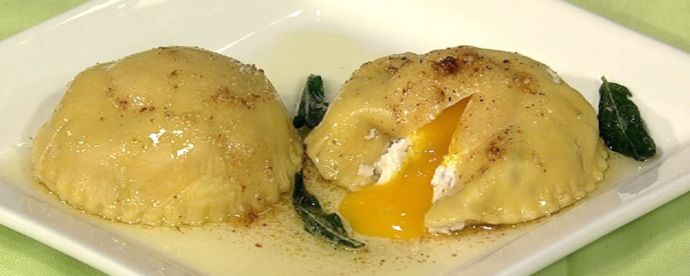 Fresh Ricotta and Egg Ravioli with Brown Butter Recipe by Mario Batali ...