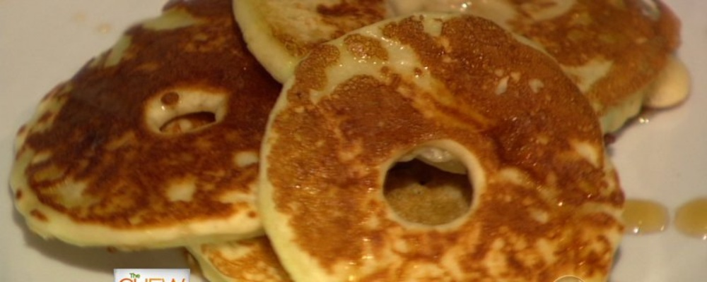 Fried Apple Pancake Rings Recipe by Carla Hall - The Chew