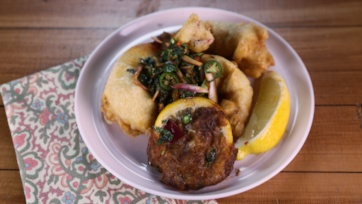 Fritto Misto with Spicy Asian Salad