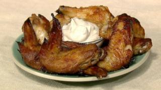 Ginger-Garlic Wings with Lebanese Yogurt Dipping Sauce
