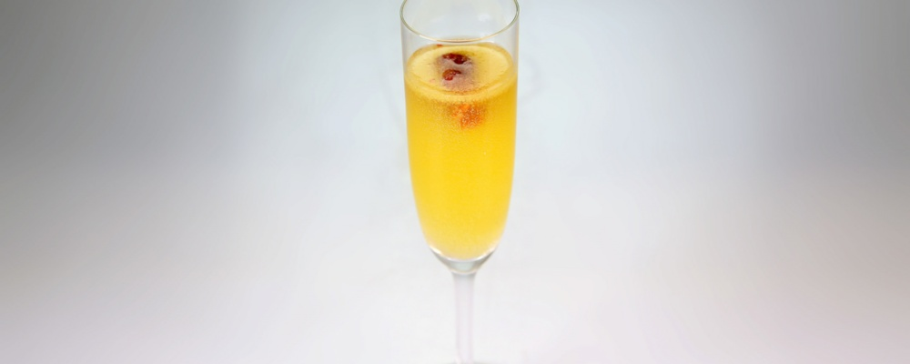Ginger Peach Bellini