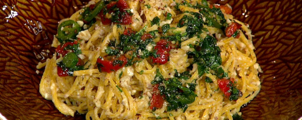 michael symon and mario batali goat cheese pasta with sweet and spicy ...